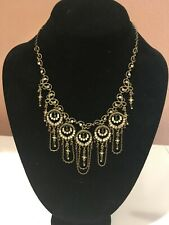 """Michal Negrin Necklace 16"""" - 18"""", lobster claw closure, crystals & faux pearls"""
