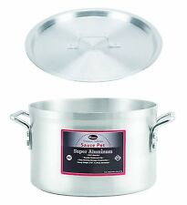 "Winco 12"" x 7-1/2"" Sauce Pot with Cover, Aluminum Pot with Lid"