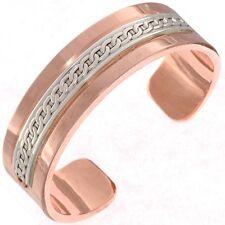 Large Mens Copper Silver Bracelet Custom Therapeutic Sports Cuff