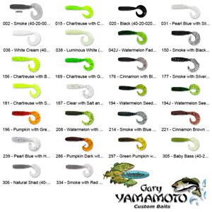 Gary Yamamoto Grub (40-20) Single Curly Tail 4 Inch Any 26 Color Fishing Baits