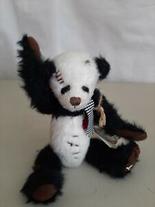 "Ganz Cottage Collectibles Lil Panda Plush 7"" Stuffed Animal Jointed NEW"