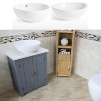 Bathroom Vanity Unit   Grey Bathroom Slimline Cabinet   White Marble Worktop