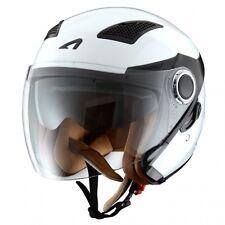 Astone Fj10m WHS Helmets-casco Jet Fj10 Fibra Bianco Taglia S (r7t)