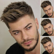 Handsome Mens Short Wigs Natural Straight Hair Cosplay Party Synthetic Full Wigs