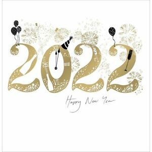 New Year Card 2022 Party Hat