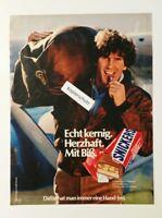 Werbeanzeige/advertisement A4: Snickers - Echt kernig 1981 (120416231)