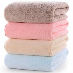 TIORU Bath towel large size set of 4 microfiber feel excellent fluffy, Soft