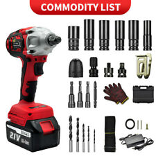 800 Nm Cordless Electric Impact Wrench Gun 12 Driver Drill Amp2x 3a Battery 21v