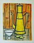 "Buffet ""Cafetière jaune"" '55 orig litho Douze Aquarelles Ed. #283/30 INV2537A"