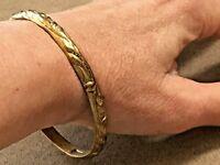 """Antique Sterling Silver and 14K vermeil bangle bracelet 7.5"""""""
