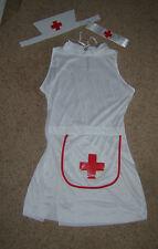 Ladies Sexy Nurse Fancy Budget Dress Costume Uniform S/M 8-12 New with fault