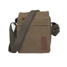 Troop London Canvas Crossbody Bag - TRP0220 - Brown Canvas - FREE Delivery