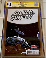 SILVER SURFER #2 CGC 9.8 SS SIGNED BY FRANCAVILLA 1:50 VARIANT (2014) MARVEL NM+