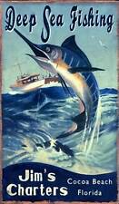 New! Marlin Fishing by Red Horse Signs Classic Art Print Home Wall Decor 738773