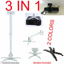 Universal Projector Ceiling Wall Mount Bracket Tilt Extendable for Acer ASUS NEC