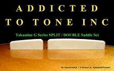 Takamine G Series SPLIT / DOUBLE Saddle Set - Genuine OEM Part!