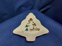 "Vintage 1987 Jamestown China"" The Joy Of Christmas"" Small Tree Shaped Dish Tray"