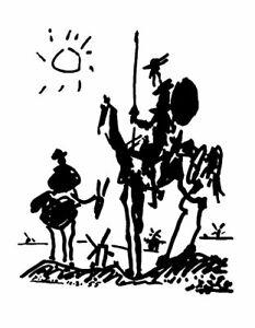 Don Quixote by Pablo Picasso - Art Print/Poster 11x14 inches