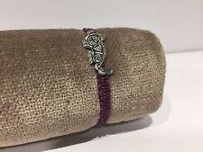 Nueva - Pulsera Plata ROSICH - Silver Bracelet - Purple Macrame Lila