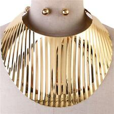 LUXE Celeb Statement Gold Oversized HUGE Cuff Choker Necklace By Rocks Boutique
