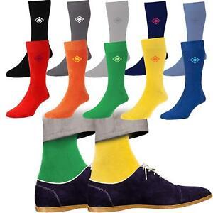 10 Pairs Mens Soft Cotton Rich Bright Fashion Dress Designer Socks Size 6-11