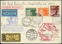Zeppelin Österreich 1933 7. Südamerikafahrt Zuleitung Anschlussflug Si 337b/778