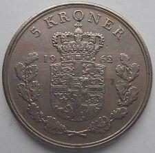 DENMARK 5 KRONER 1962