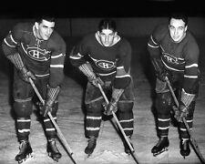 Montreal Canadiens MAURICE RICHARD, ELMER LACH & TOE BLAKE Glossy 8x10 Photo