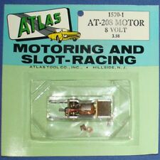 ATLAS SLOT CAR CHASSIS REPLACEMENT PARTS AT-208 8 VOLT MOTOR FULL CARD 1570-1