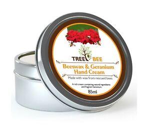 Large Geranium Beeswax Hand Cream Natural Dry Working Hands Skin Chapped UK Made