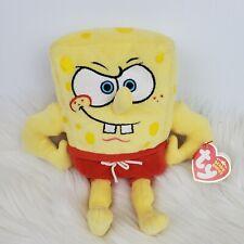 "Ty Beanie Babies Spongebob Beach MuscleBob BuffPants Plush 8"""