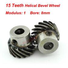 1M 15T Φ8 Steel Helical Bevel Wheel Motor Gear Pinion Large Torque 90° Gearing