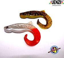Belly Tail Twister 8cm 2er set Gummifisch Kunstköder Jenzi Shad angeln