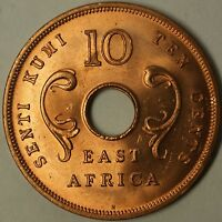 1964-H East Africa 10 Cents Brilliant Uncirculated Elephant Coin