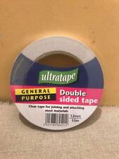 12mm TAPE ULTRATAPE DOUBLE SIDED UNIVERSAL STICKY GENERAL PURPOSE CLEAR JOINING