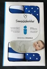 SwaddleMe 2 pack Baby Boy Swaddles Swaddlers Small 0-3 months blue white stars