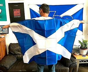5x3 Wearable Saltire Flag Cape ~ Only £7.75 ~ UK Buyers - Post FREE*