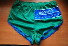 ADIDAS SPRINTER RUNNING SHORTS VINTAGE NYLON GREEN MADE IN WEST GERMANY RARE GYM