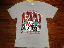 Wisconsin Badgers Tee Shirt Medium Men's 47 Brand Heathered grey vintage tubular