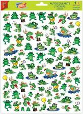 A4 Sticker Sheet Cute Green Frogs - Scrapbooking & Cardmaking Over 70 Images