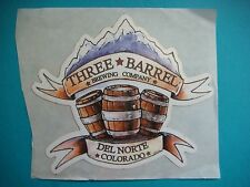 Beer STICKER: Three Barrel Brewing Company >< De Norte Colorado Brewery