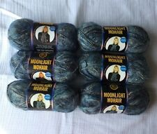 Lion Brand Moonlight Mohair Glacier Bay Yarn Lot of 6 Skeins Different Dye Lots