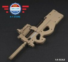 """1/6 Scale P90 Rifle Submachine Gun Toys Weapon Models For 12"""" Male Figure Doll"""