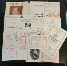More details for collection of vintage ww2 era theatre programmes