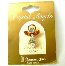 Schutzengel Pin, November von Roman USA Crystal Guardian Angels Topas