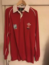 Wales Rugby Union Shirt World Cup 7s Large