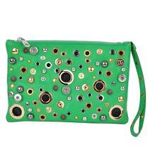 Dolce & Gabbana Nappa clutch bolso bolso de mano verde handbag Green 02583