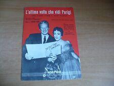 SPARTITO MUSICALE L'ULTIMA VOLTA CHE VIDI PARIGI THE LAST TIME I SAW PARIS KERN