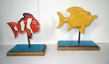 Folk Art Decoy NEMO FISH SCULPTURE Collection - SPECTACULAR HAND CARVED