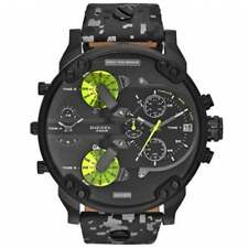 Diesel DZ7311 Mr Daddy 2.0 Black & Grey Leather Chronograph Men's Watch